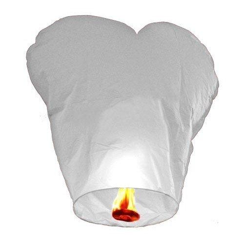 Небесный фонарик(сердце) белый