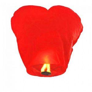 Небесный фонарик(сердце) красный